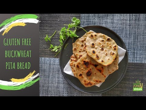 BUCKWHEAT PITA gluten freeveganonly 3 ingredients.