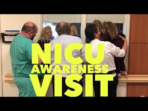 A HOSPITAL VISIT TO DO SOME SERVICE-NICU AWARENESS MONTH