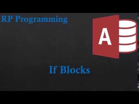 13.If Blocks in Access VBA 2013