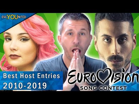 Eurovision Host Entries: Top 10 | With Reaction (2010 - 2019)