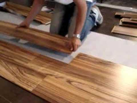 Megaloc installation youtube for Easy to install kitchen flooring