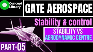 Location of aerodynamic centre for static stability | flight mechanics for GATE