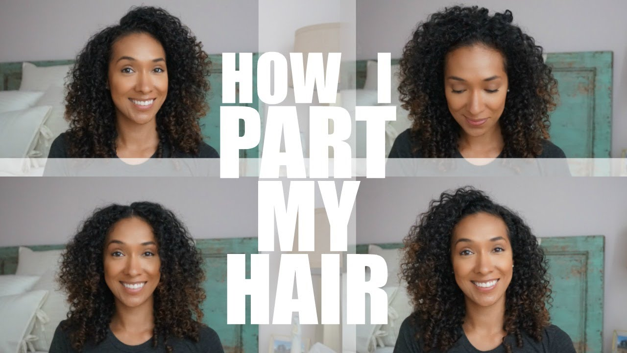 How To Part Curly Hair Risasrizos Youtube