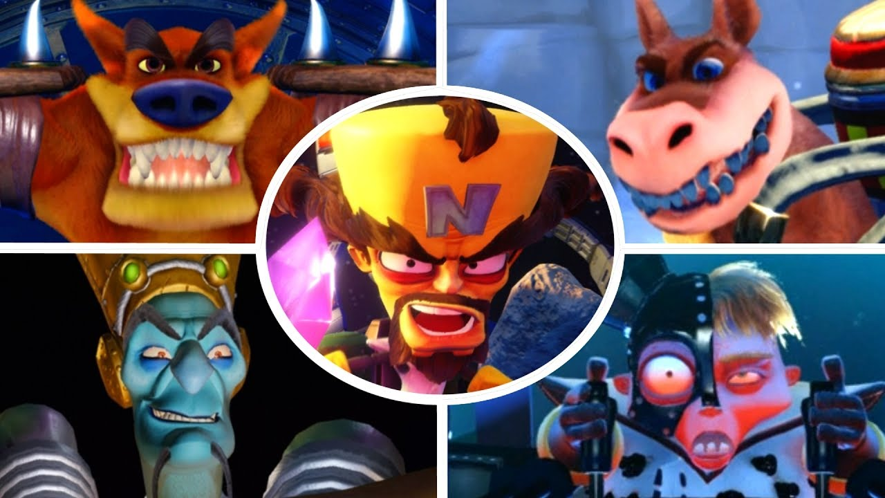 Crash Bandicoot N Sane Trilogy All Bosses No Damage
