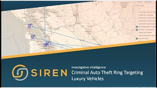 Siren Investigative Intelligence: Criminal Auto Theft Ring Targeting Luxury Vehicles