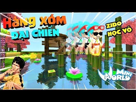 Mini World : Hàng xóm đại chiến tập 2 : Phong Cận học võ trả thù hàng xóm Rein | Phong Cận tv