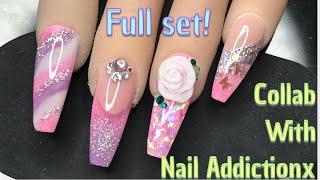 Nail Addictionx Collab! | Full set recreation | Nail Sugar