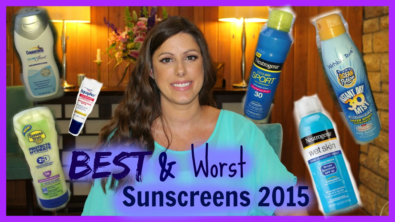 Sunscreen Show Down || Best and Worst of Summer '15