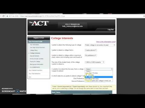 ACT account creation and test registration