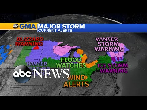 Winter Storm To Bring Snow And Ice To Millions L ABC News
