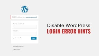 How to Disable Login Hints in WordPress Login Error Messages Mp3