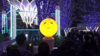 ゆず× 光の街 博多 2017 クリスマスイルミネーション JR博多駅前 福岡市...