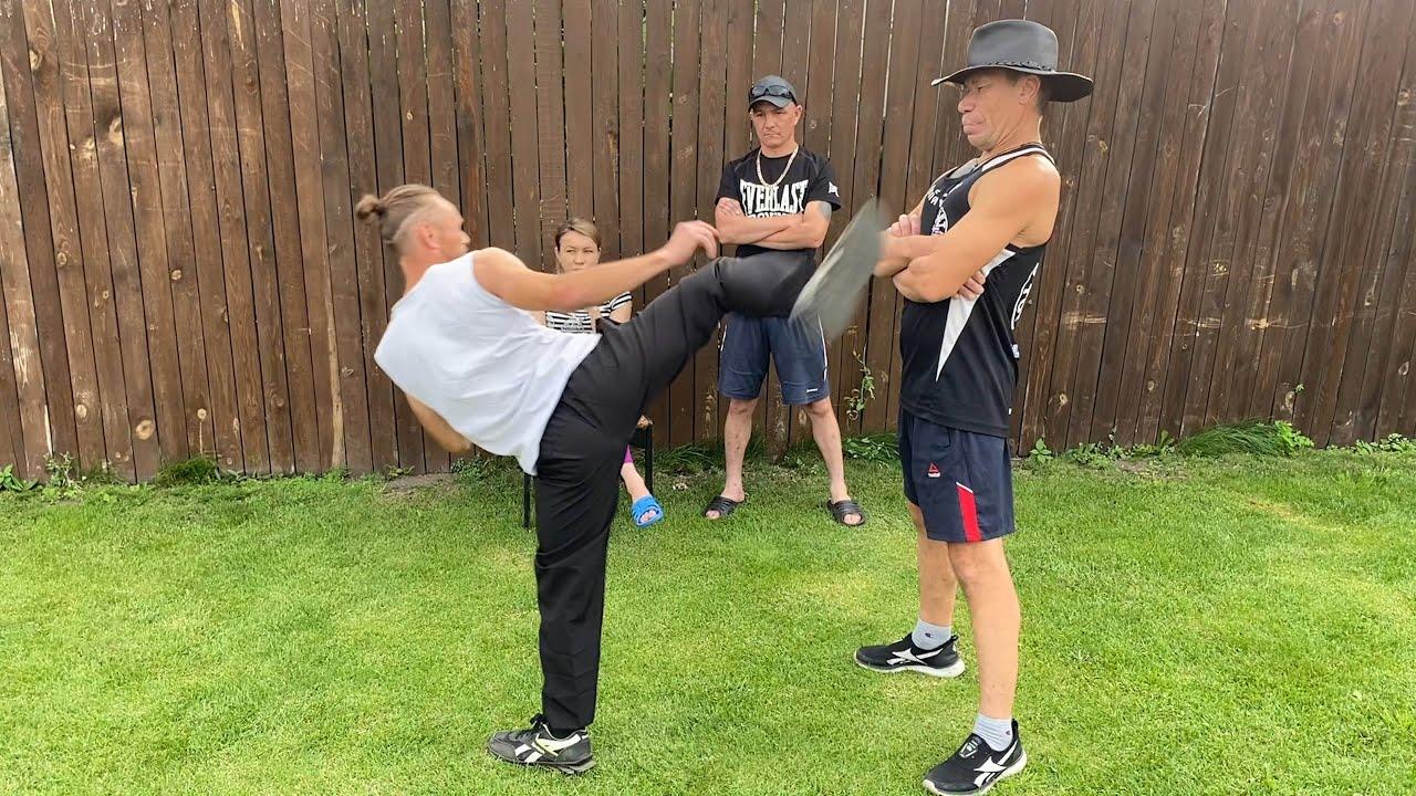 Олег Монгол против Хэнкок полный бой!