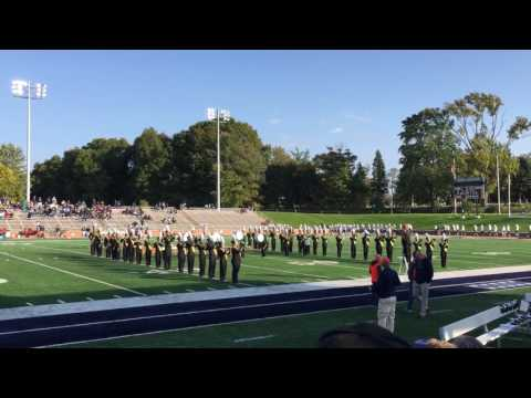McBain High School Marching Band plays Hope College fight song