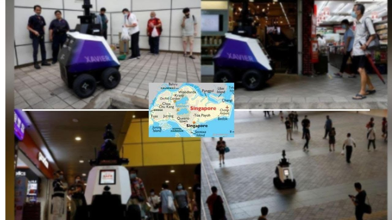 Robots deployed in public areas to detect bad social behaviour in Singapore