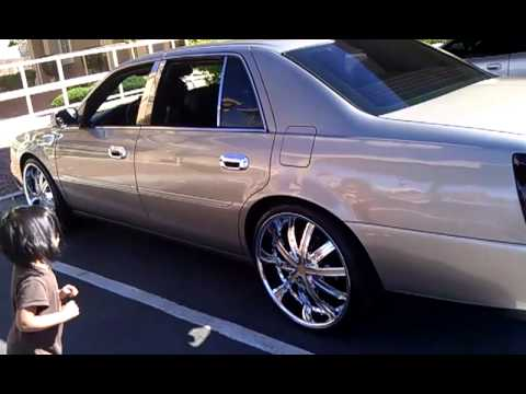 02 cadillac deville(new whip) on 22s - YouTube