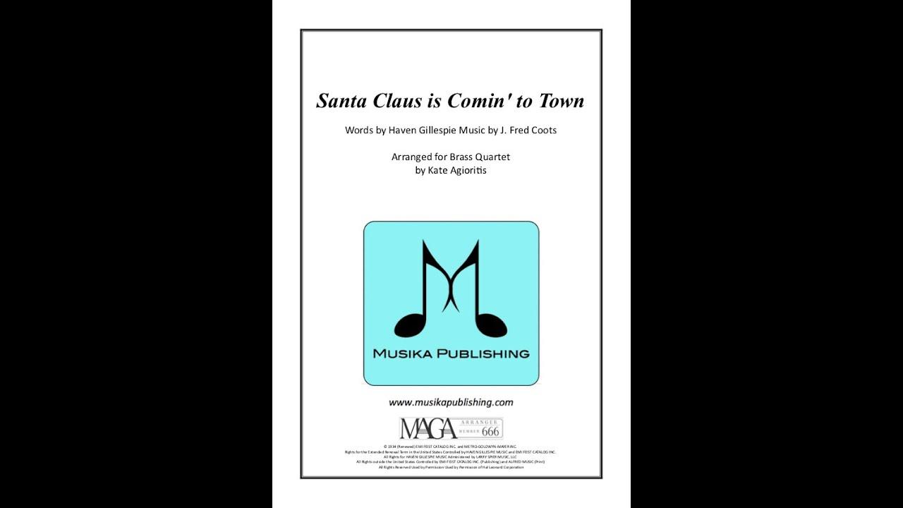 Santa Claus is Comiin' to Town - Jazz Arrangement for Brass Quartet