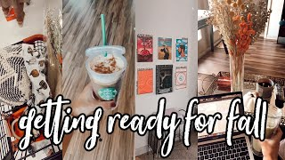 college day in my life: preparing for fall, trader joe's haul, apartment updates!