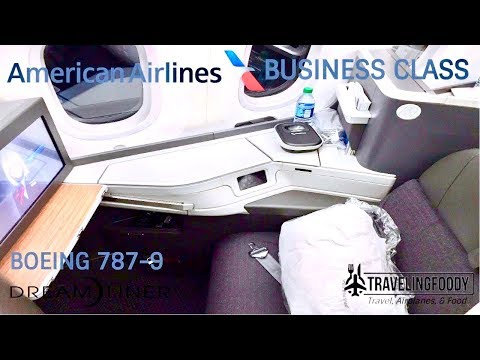 American Airlines Business Class Boeing 787-9 Dreamliner Los Angeles To Tokyo アメリカン航空ビジネスクラス
