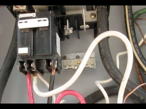gfci breaker tripping new wire up hot tub how to repair the spa guy rh youtube com square d spa panel wiring diagram Square D Electrical Panel Wiring