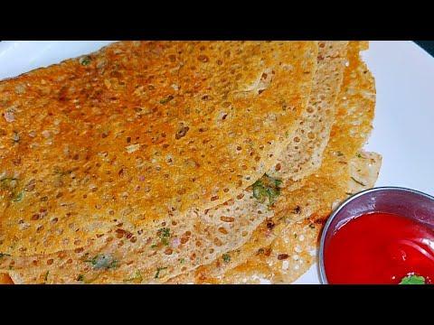 Instant Atta Dosa   Atta Dosa In 2 Minutes-easy Breakfast Recipe-how To Make Wheat Flour Dosa