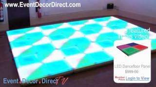 Event Decor Direct Tv - Eddylight™ Led Dancefloor Panels In Use