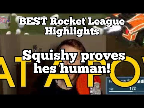 BEST Rocket League Highlights: Squishy proves hes human!