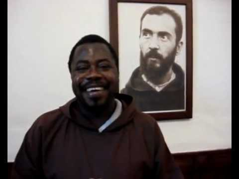 Hello from San Giovanni Rotondo - Fr. Etienne from Congo