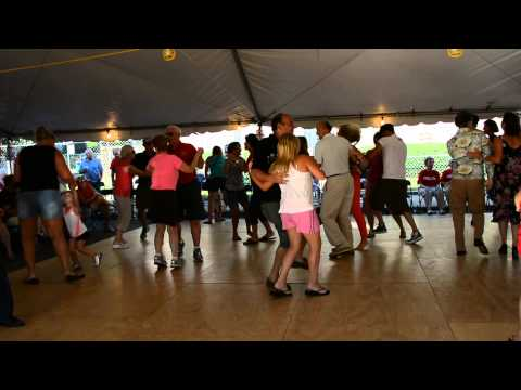 Enthusiastic Polka dancing,  Toledo Ohio Polish American Festival Lagrange Street July 13, 2013
