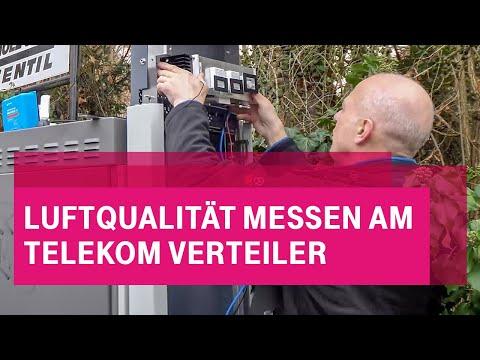 Social Media Post: Telekom hilft Darmstadt bei Luftqualitätsmessung