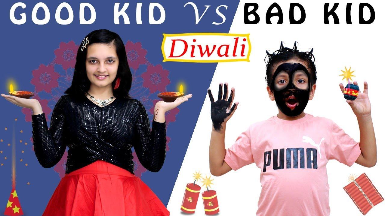 Download GOOD KIDS vs BAD KIDS Diwali special #Funny Types of Kids on Diwali | Aayu and Pihu Show