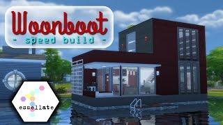 De Waterwoning // Woonboot serie   Sims 4 Speed Build (Nederlands)