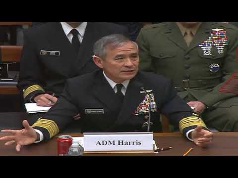 Discussing Defense Policy in the Pacific with Admiral Harris 2/14/18