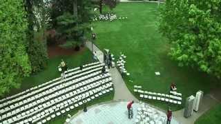 ENC Commencement Spring Chair Setup Time Lapse