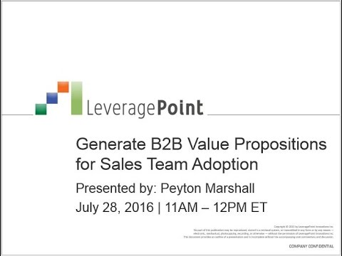 Generate B2B Value Propositions for Sales Team Adoption