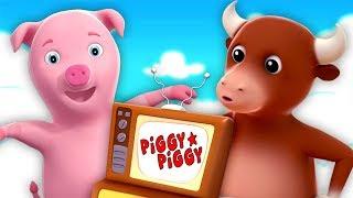 Piggy Piggy canção   Rimas de berçário   musica infantil   Piggy Piggy Yes Papa   Farmees Português