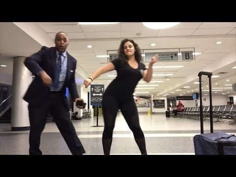 Woman Stuck In Airport Overnight Makes Funny Video Dancing With Employees