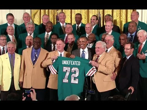 President Obama Honors the 1973 Super Bowl Champion Miami Dolphins
