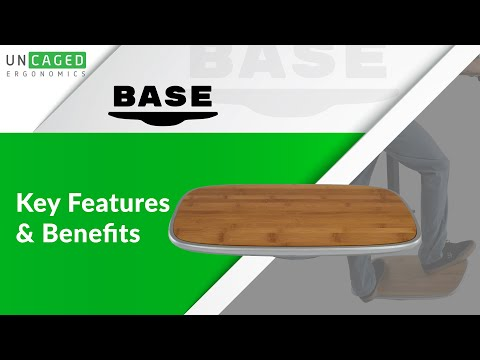 BASE Premium Balance and Stability Board for Standing Desks, Office, Home, Fitness by Uncaged Ergono