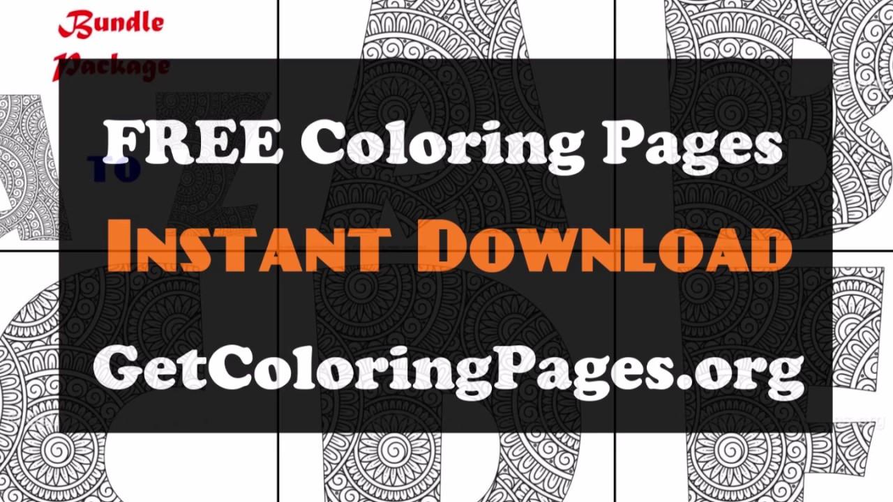Mandala Alphabet Coloring Sheet Pdf Youtube