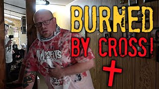(WARNING) POLTERGEIST IS REAL AND TERRIFYING - Attacked by Evil Spirits BURNED BY CROSS!!