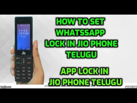 How To Set Whatsapp Lock In Jio Phone Telugu Youtube
