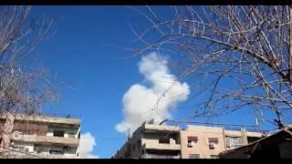 حملة عسكرية ضخمة تطال حي القابون الدمشقي