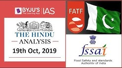 'The Hindu' Analysis for 19th October, 2019 (Current Affairs for UPSC/IAS)