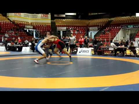 2016 Canadian Senior Championships: 97 kg Kyle Bonk-Dann vs. Ali Al-Rekabi