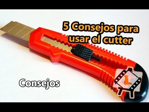 5 Consejos para usar el cutter /Consejos