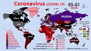 The Complete World Map Timelapse of the Coronavirus since January