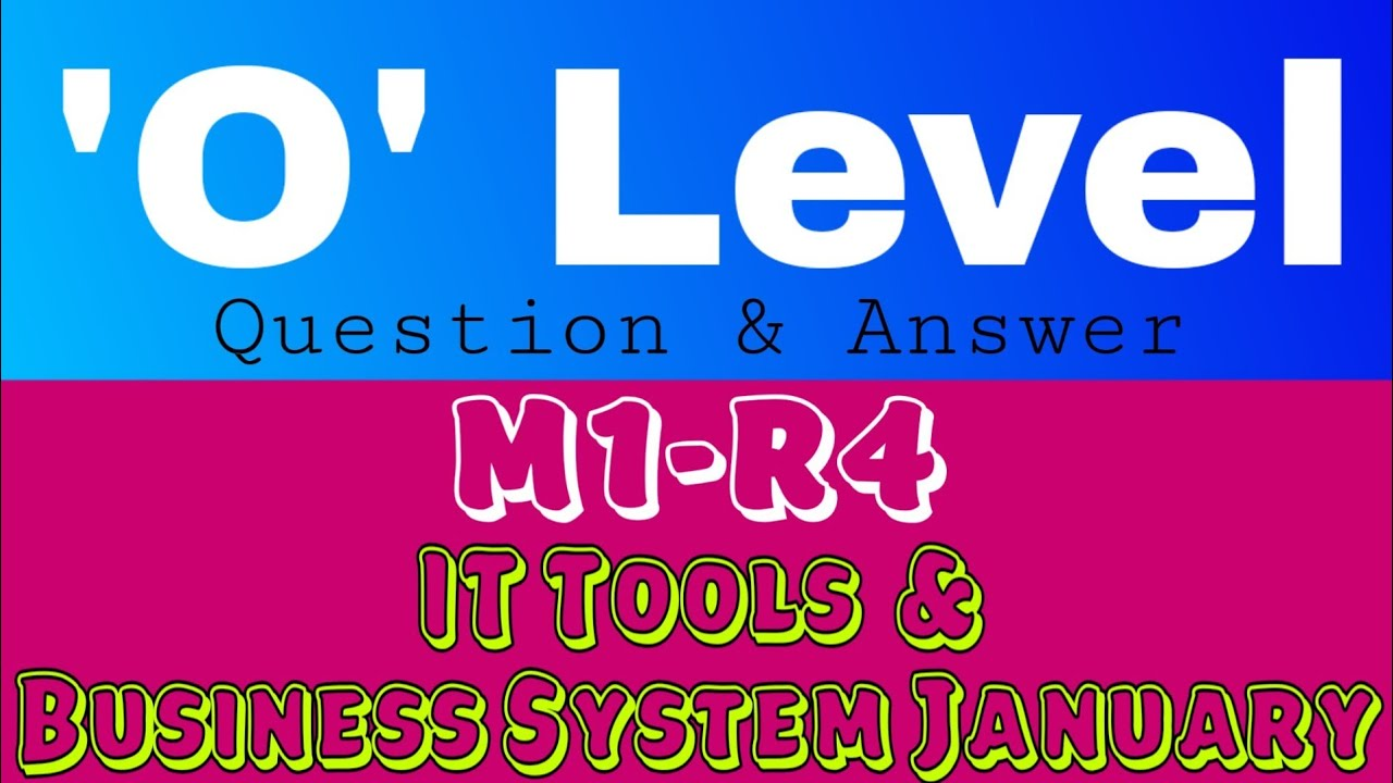 o level question answer paper january 2018 m1 r4 it tools