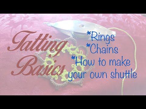 ♥ How to make lace - Tatting Basics - Frivolité ♥