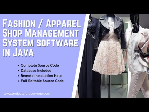 Fashion Store / Apparel Shop Management System Project in Java Swing with Mysql